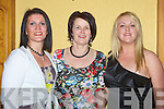 ENJOYING: Having a good time were Siobhan Herbert,Maria O'Donoghue and Deirdre Murphy at the Crotta GAA Social in Meadowlands Hotel, Tralee on Saturday night...