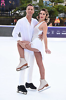 "Candice Brown and Matt Evers<br /> at the ""Dancing on Ice"" launch photocall, natural History Museum, London<br /> <br /> <br /> ©Ash Knotek  D3365  19/12/2017"