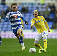 Leeds United's Ezgjan&nbsp;Alioski (right) under pressure from Reading's John Swift (left) <br /> <br /> Photographer David Horton/CameraSport<br /> <br /> The EFL Sky Bet Championship - Reading v Leeds United - Tuesday 12th March 2019 - Madejski Stadium - Reading<br /> <br /> World Copyright &copy; 2019 CameraSport. All rights reserved. 43 Linden Ave. Countesthorpe. Leicester. England. LE8 5PG - Tel: +44 (0) 116 277 4147 - admin@camerasport.com - www.camerasport.com