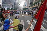 Protesto contra vista de George W. Bush. São Paulo. 2007. Foto de Caetano Barreira.