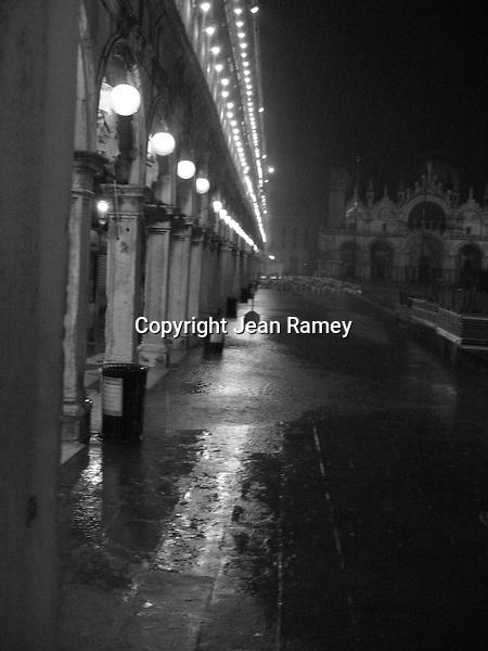 A rainy night in Venice
