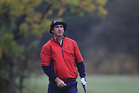 Gonzalo Fernandez-Castano (ESP) on the 3rd tee during Round 4 of the Sky Sports British Masters at Walton Heath Golf Club in Tadworth, Surrey, England on Sunday 14th Oct 2018.<br /> Picture:  Thos Caffrey | Golffile<br /> <br /> All photo usage must carry mandatory copyright credit (&copy; Golffile | Thos Caffrey)