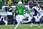 Oct 07, 2015; Eugene, OR, USA; Oregon Ducks wide receiver Charles Nelson (6) runs up field during a kickoff return against the California Golden Bears at Autzen Stadium. <br /> Photo by Jaime Valdez