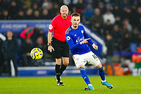 11th January 2020; King Power Stadium, Leicester, Midlands, England; English Premier League Football, Leicester City versus Southampton; James Maddison of Leicester City on the ball - Strictly Editorial Use Only. No use with unauthorized audio, video, data, fixture lists, club/league logos or 'live' services. Online in-match use limited to 120 images, no video emulation. No use in betting, games or single club/league/player publications