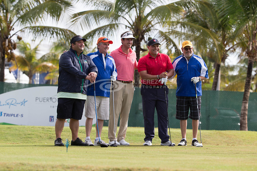 "PR OPEN 2017 Starts with Pros and Famous Amateurs playing together. Celebrity and Sports man Iván ""Pudge"" Rodríguez Torres, former Major League Baseball catcher and National Baseball Hall of Fame 2017 said present at the PGA Puerto Rico Open 2017's Pro-Am game. The Pudge went in a ""five some"" with PGA Tour Spanish player Gonzalo Fernandez-Castaño. (Photo © J. Perez-Mesa / 2017)"