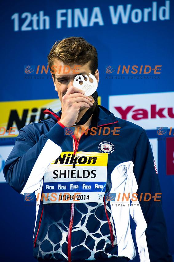 SHIELDS Tom USA Silver Medal<br /> Men's 100m Butterfly Final<br /> Doha Qatar 04-12-2014 Hamad Aquatic Centre, 12th FINA World Swimming Championships (25m). Nuoto Campionati mondiali di nuoto in vasca corta.<br /> Photo Giorgio Scala/Deepbluemedia/Insidefoto