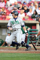 August 15 2008:  Hector Estrella (5) of the Cedar Rapids Kernels, Class-A affiliate of the Los Angeles Angels of Anaheim, during a game at Philip B. Elfstrom Stadium in Geneva, IL.  Photo by:  Mike Janes/Four Seam Images
