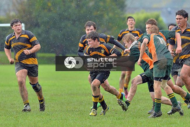U16 Rugby Waimea College v Motueka High School. Waimea College 1, Richmond, Nelson, New Zealand. Saturday 24 May 2014. Photo: Barry Whitnall/www.shuttersport.co.nz