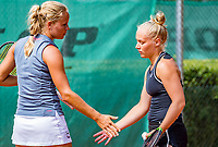 The Hague, Netherlands, 09 June, 2018, Tennis, Play-Offs Competition, Womans doubles: Dominique Karregat (NED) (R) and Annick Melgers(NED)<br /> Photo: Henk Koster/tennisimages.com