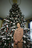 Washington, DC Ð November 30, 2006 -- First lady Laura Bush held a media preview of the holiday decorations that filled the East Room, Blue Room, the State Dinning Room..The holiday Christmas tree fills the Blue Room filled with ornaments, and holiday plants as well as a preview in the State Dining Room of the Christmas dinner where the press can sample the foods that will be served..Credit: Gary Fabiano - Pool via CNP.