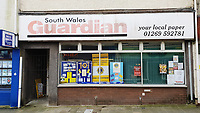 The now closed South Wales Guardian office in Quay Street in Ammanford town centre, Carmarthershire, Wales, UK. Monday 10 December 2018
