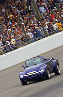 87th Indianapolis 500, Indianapolis Motor Speedway, Speedway, Indiana, USA  25 May,2003.GM's Herb Fishel paces the field in the Chevy SSR Pace Vehicle..World Copyright©F.Peirce Williams 2003 .ref: Digital Image Only..F. Peirce Williams .photography.P.O.Box 455 Eaton, OH 45320.p: 317.358.7326  e: fpwp@mac.com..