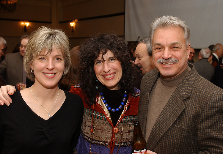 Laura Muha, Jamie Talan and Joe Dombroski at retirement party for Harvey Aronson at the Huntington Hilton in Melville on Thursday January 20, 2005. (Photo copyright Jim Peppler 2005).