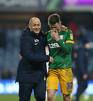 Preston North End manager Alex Neil celebrates with Paul Gallagher at the end of the game<br /> <br /> Photographer Rob Newell/CameraSport<br /> <br /> The EFL Sky Bet Championship - Queens Park Rangers v Preston North End - Saturday 19 January 2019 - Loftus Road - London<br /> <br /> World Copyright © 2019 CameraSport. All rights reserved. 43 Linden Ave. Countesthorpe. Leicester. England. LE8 5PG - Tel: +44 (0) 116 277 4147 - admin@camerasport.com - www.camerasport.com