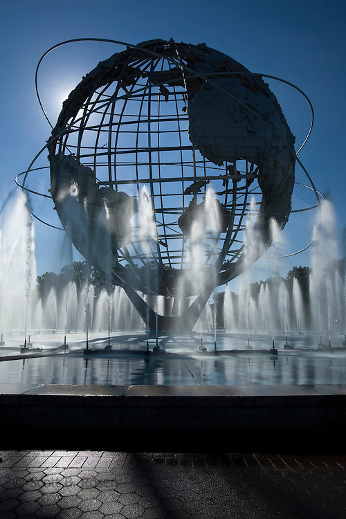 Unisphere, in Flushing Meadows Park, former site of the 1964-1965 World's Fair, Queens, New York City