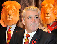 London, England. British & Irish Lions 2013 Head Coach Warren Gatland at the Launch of the Thomas Pink unveils its British & Irish Lions Collection as the new Official Outfitters for the iconic rugby team at  The Pink Lion, London, England on October 30. 2012.