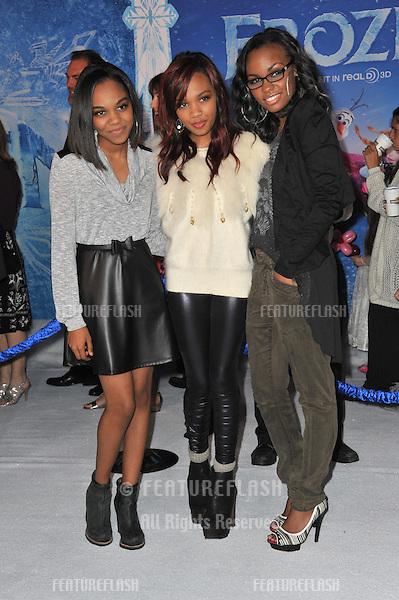 Pop group McClain - China Anne McClain &amp; sisters Sierra &amp; Lauryn - at the premiere of Disney's &quot;Frozen&quot; at the El Capitan Theatre, Hollywood.<br /> November 19, 2013  Los Angeles, CA<br /> Picture: Paul Smith / Featureflash