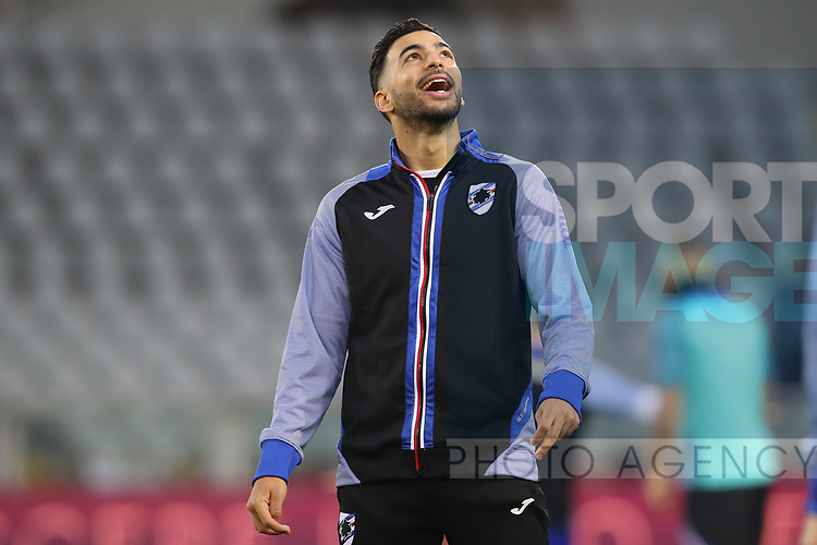 Medhi Lerisof Sampdoria during the Serie A match at Stadio Grande Torino, Turin. Picture date: 8th February 2020. Picture credit should read: Jonathan Moscrop/Sportimage