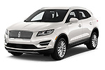 2019 Lincoln MKC Base 5 Door SUV angular front stock photos of front three quarter view