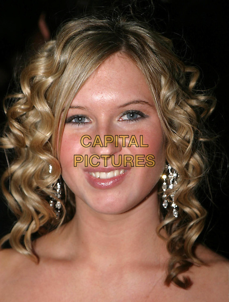 BROOKE KINSELLA.National Television Awards, Royal Albert Hall.headshot, portrait, wavy curly hair, earrings.www.capitalpictures.com.sales@capitalpictures.com.© Capital Pictures.