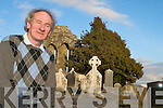 GRAVEYARD: Cllr Michael Gleeson in Aghadoe graveyard near Killarney, which he says needs a facility for disposing of old wreaths and litter.