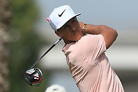 Thorbjorn Olesen (DEN) on the 3rd tee during Round 2 of the Omega Dubai Desert Classic, Emirates Golf Club, Dubai,  United Arab Emirates. 25/01/2019<br /> Picture: Golffile | Thos Caffrey<br /> <br /> <br /> All photo usage must carry mandatory copyright credit (© Golffile | Thos Caffrey)