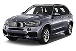 2018 BMW X5 Plug-in Hybrid iPerformance 5 Door SUV angular front stock photos of front three quarter view