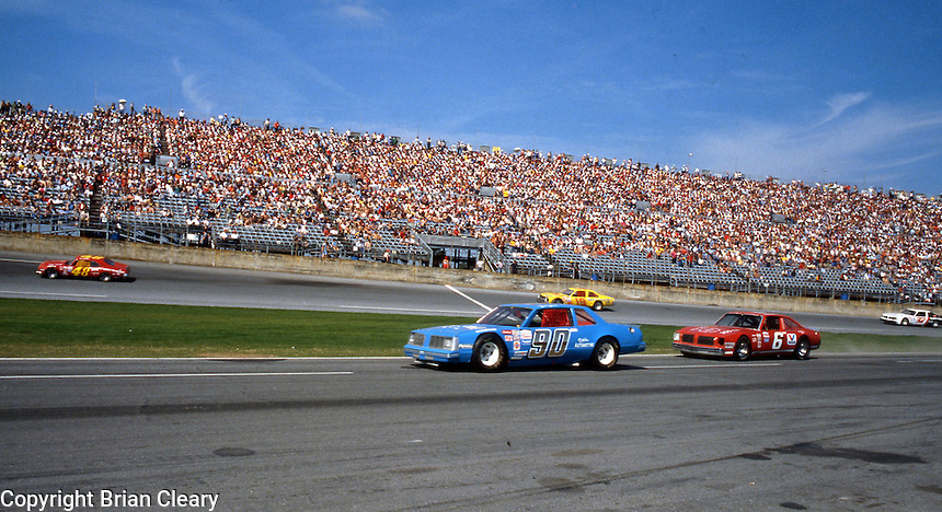 Busch Series action  at Daytona International Speedway in Daytona Beach, FL on February  1984. (Photo by Brian Cleary/www.bcpix.com)