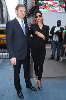May 23, 2012 Nicole Scherzinger with Jens Henrikkson, Senior VP and Head of Nordic Fixed Income and Funds, before ringing the opening bell at the NASDAQ MarketSite promoting Men In Black III on MIB Loves NYC Day at Times Square in New York City. Credit: RW/MediaPunch Inc.