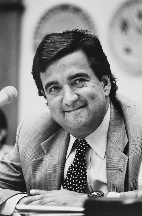 Close-up of Rep. Bill Richardson, D-N.M., in July 1991. (Photo by Maureen Keating/CQ Roll Call)