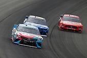 #18: Kyle Busch, Joe Gibbs Racing, Toyota Camry M&M's Hazelnut and #24: William Byron, Hendrick Motorsports, Chevrolet Camaro Hendrick Autoguard