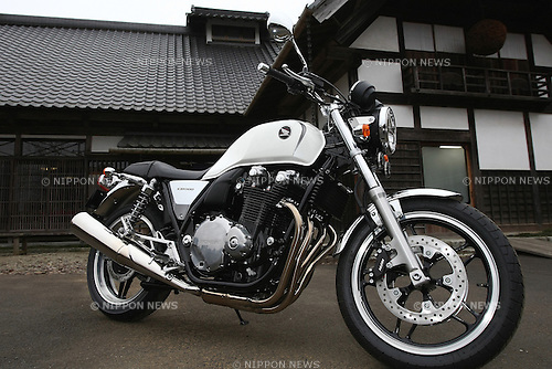 March 4, 2010 - Shisui, Japan - New Honda CB1100 is pictured during a press test drive event organized by Honda Motor Co., Ltd. in Shuisui, Japan, on March 4, 2010. Honda will start to sell the CB1100 'Type I' in Japan from March 11, at the retail price of 997,500 yens.