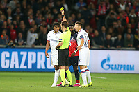 Reece James of Chelsea is shown a yellow card during Lille OSC vs Chelsea, UEFA Champions League Football at Stade Pierre-Mauroy on 2nd October 2019