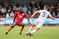 Enzio Boldewijn of Crawley Town (7) and Dan Potts of Luton Town (3)  during the Sky Bet League 2 match between Crawley Town and Luton Town at the Broadfield/Checkatrade.com Stadium, Crawley, England on 17 September 2016. Photo by Edward Thomas / PRiME Media Images.