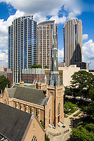 Photography of the First Presbyterian Church Uptown Charlotte, North Carolina.<br /> First Presbyterian Church is a historic Presbyterian church located at 200 W. Trade Street .<br /> <br /> Charlotte Photographer -PatrickSchneiderPhoto.com