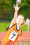 Jayne Shanahan Castleisland competing in the u14 girls shot putt at the Denny County Community Games in An Riocht Castleisland on Sunday   Copyright Kerry's Eye 2008