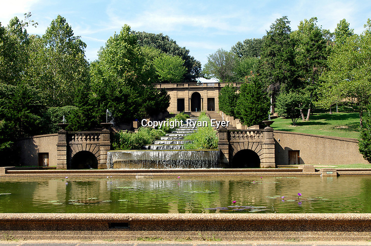 WASHINGTON DC - 2 September 2010 - A thirteen-basin cascade fountain is one of the most dramatic features of Meridian Hill Park. The park, also known unofficially as Malcolm X Park, is located in the Washington, D.C. neighborhood of Columbia Heights in the United States over 12 acres. -- Ryan Eyer/APP-Allied Picture Press