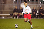 14 November 2008: Maryland's Kaoru Forbess. The University of Maryland defeated Boston College 1-0 at WakeMed Stadium at WakeMed Soccer Park in Cary, NC in a men's ACC tournament semifinal game.