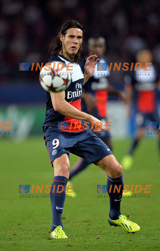 Edinson Cavani (psg) <br /> Parigi 2/10/2013 <br /> Football 2013/2014 Champions League<br /> Paris Saint Germain Benfica <br /> Anthony BIBARD / FEP / Panoramic / Insidefoto <br /> ITALY ONLY