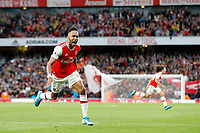 GOAL - Pierre-Emerick Aubameyang of Arsenal is the scorer during the Premier League match between Arsenal and Aston Villa at the Emirates Stadium, London, England on 22 September 2019. Photo by Carlton Myrie / PRiME Media Images.