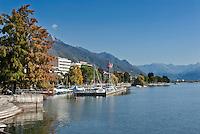 Switzerland, Ticino, District Locarno, Muralto: community neighbouring Locarno at Lago Maggiore | Schweiz, Tessin, Kreis Locarno, Muralto: Gemeinde am Lago Maggiore, die heute mit dem benachbarten Locarno zusammen gewachsen ist