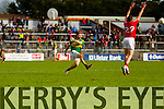 Alan Fitzgerald Kerry in action against Paul Kerrigan Cork in the National Football League at Pairc Ui Rinn, Cork on Sunday.
