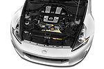 Car Stock 2020 Nissan 370Z-Coupe 7A/T 0 Door Coupe Engine  high angle detail view