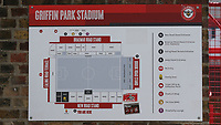 A Griffin Park Stadium map on the wall next to the turnstiles during Brentford vs Swansea City, Sky Bet EFL Championship Play-Off Semi-Final 2nd Leg Football at Griffin Park on 29th July 2020