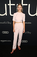 BEVERLY HILLS, CA - OCTOBER 8: Stefanie Scott, at the Los Angeles Premiere of Beautiful Boy at the Samuel Goldwyn Theater in Beverly Hills, California on October 8, 2018. <br /> CAP/MPIFS<br /> ©MPIFS/Capital Pictures