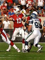Nov. 6, 2005; Tempe, AZ, USA; Quarterback (13) Kurt Warner of the Arizona Cardinals against the Seattle Seahawks at Sun Devil Stadium. Mandatory Credit: Mark J. Rebilas