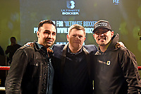 Paulie Malignaggi (L), Ricky Hatton and Anthony Crolla during the Ultimate Boxxer Launch at the ME London Hotel on 5th February 2018