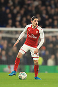 10th January 2018, Stamford Bridge, London, England; Carabao Cup football, semi final, 1st leg, Chelsea versus Arsenal; Héctor Bellerin of Arsenal