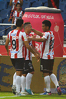 BARRANQUILLA -COLOMBIA ,20-08-2017.  Teófilo Gutiérrez jugador del  Atlético Junior celebra su gol contra  el Once Caldas durante encuentro  por la fecha 9 de la Liga Aguila II 2017 disputado en el estadio Metropolitano Roberto Meléndez de Barranquilla/ Teofilo Gutiérrez player of Atletico Junior celebrates his goal against of  Atletico Nacional during match for the date 9 of the Aguila League II 2017 played at Metropolitano Roberto Melendez in Barranquilla . Photo:VizzorImage / Alfonso Cervantes  / Cont