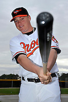 Feb 27, 2010; Tampa, FL, USA; Baltimore Orioles  catcher Adam Donachie (79) during  photoday at Ed Smith Stadium. Mandatory Credit: Tomasso De Rosa